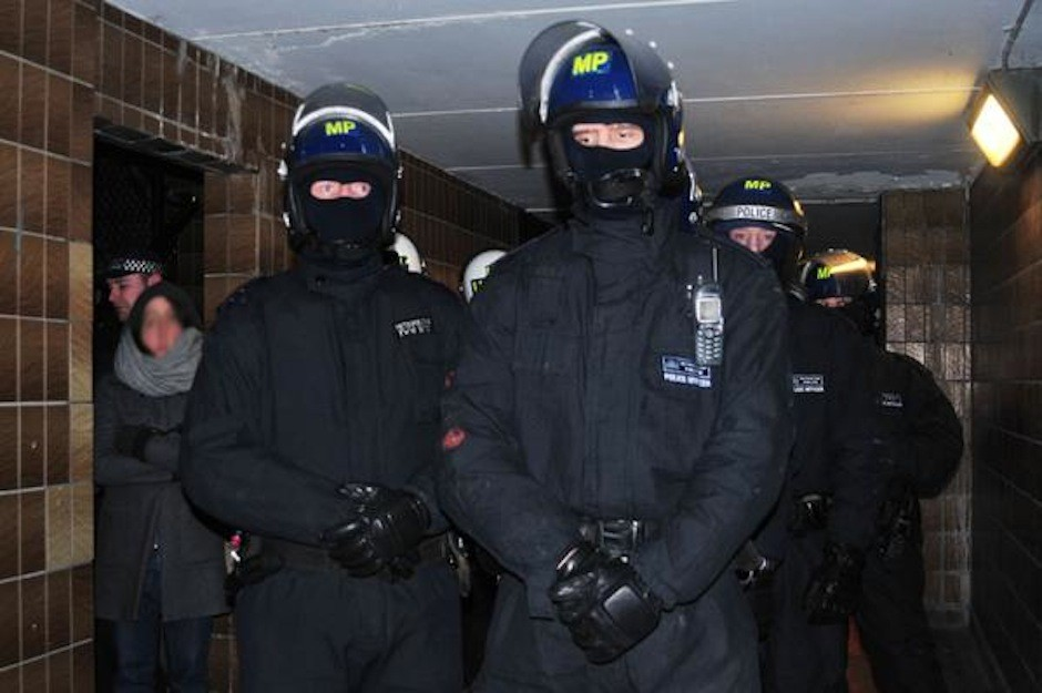 Territorial Support Group officers on the Aylesbury Estate. PHOTO: Fight for the Aylesbury
