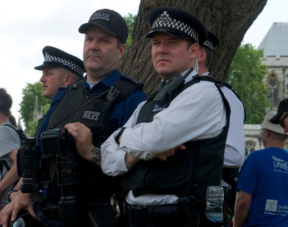 Surveillance at June 2014 London austerity march