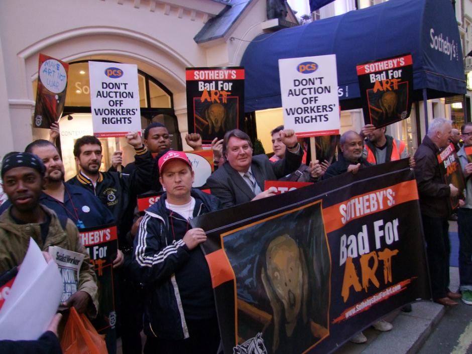 Southerbys protest