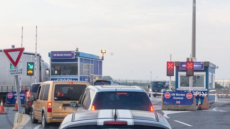 UK border control at French ferry port. PHOTO: Raimond Spekking