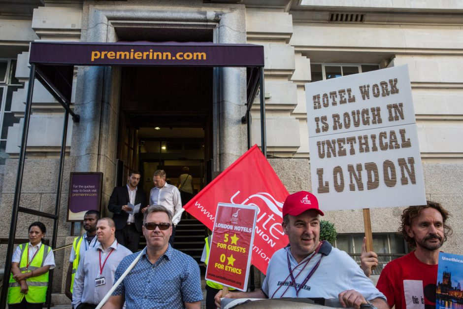 Unite Hotel Workers Branch protest