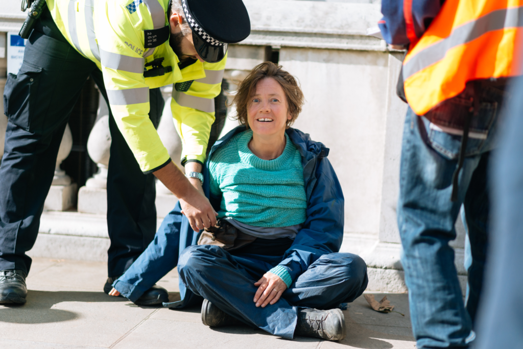 Extinction Rebellion protester